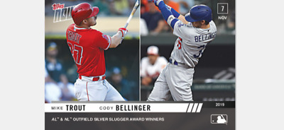 2019 Topps Now Of Silver Slugger Winner Card Mike Trout Cody Bellinger #Os-41