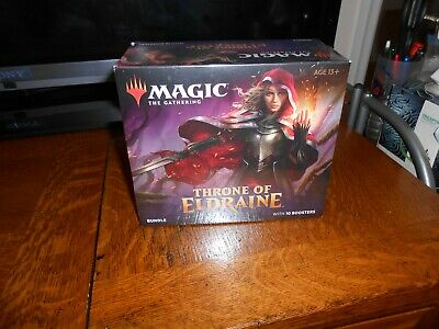 Magic The Gathering Throne Of Eldraine Bundle With 10 Boosters Sealed Free Ship!
