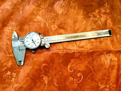 """Mitutoyo 6"""" Dial Caliper No. 505-637 Hardened Stainless"""