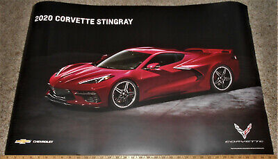 """2020 C8 Corvette Stingray poster GM Promo Giveaway - 2 sided 24 x 36"""""""