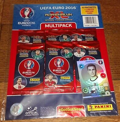 Euro 2016 Adrenalyn XL trading card multipack (6 packs + 1 limited) Panini