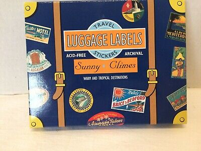 Hotel Luggage Baggage Labels 19 Vintage Travel Stickers Acid Free Repro Antique