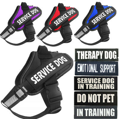 Service Dog Vest Harness Chest Plate Collar Large - Small, Patches Emotional ESA