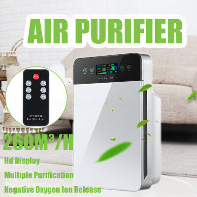 Portable 220V Air Purifier Freshener Carbon HEPA Filter Negative Ion