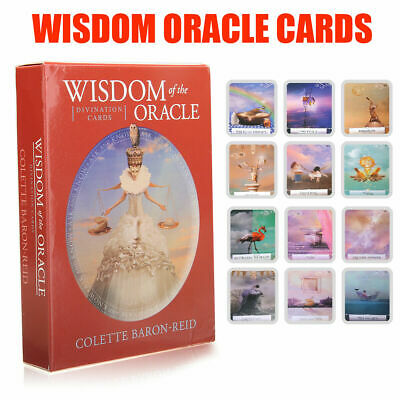 52pcs Wisdom of the Oracle Divination Cards Deck by Colette Baron-Reid A5X1T