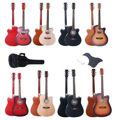 """Glarry 40"""" 41"""" Right Handed 6 Strings Basswood Back Acoustic Guitar 4 Colors"""