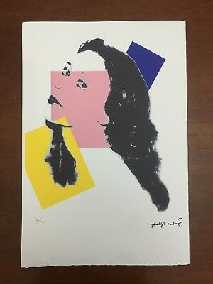 Andy Warhol Lithography 57 x 38 Arches Stamp Dry Israel Castles AN255