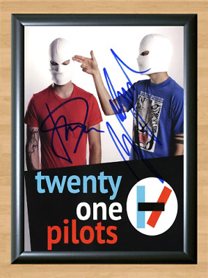 Twenty One Pilots Band Signed Autographed A4 Photo Poster Memorabilia ticket cd