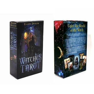 78Pcs Witch Tarot Cards Rider Deck Game Card Full Version English Divination
