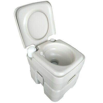 20L Portable Toilet Hand Flush Travel Camping In/Outdoor Removable Potty Commode