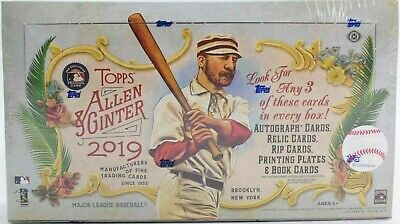 2019 Topps Allen & Ginter Hobby Box - Factory Sealed - 3 Hits .