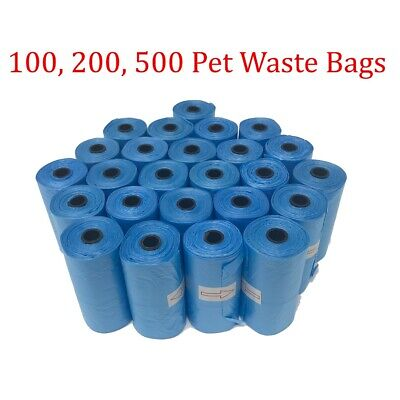 Dog Poop Waste Bags for Pets Clean up refills on a Roll Unscented blue