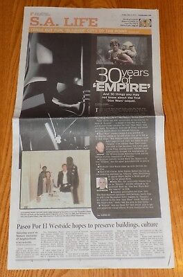 Star Wars The Empire Strikes Back 30 Years Sa Life Express-News Newspaper 2010