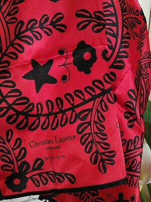 Retro Red & Black Scarf By Christian  Lacroix (For Avon Parfums)