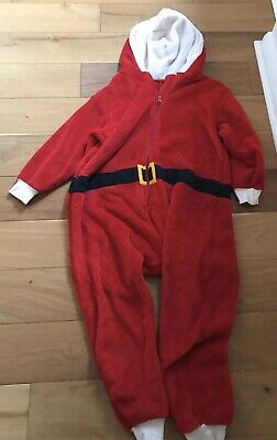 Next Boys Girls Santa Father Christmas All In One 9-10 Great Condition Dress Up