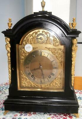 W&H Ebony & Ormolou Ting Tang Bracket Clock in Good Working Order