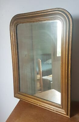 Mirror Antique Louis Philippe, Wooden and Stucco