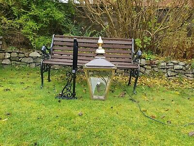 Large brass Victorian style wall lamp/light/lantern house outside garden barn