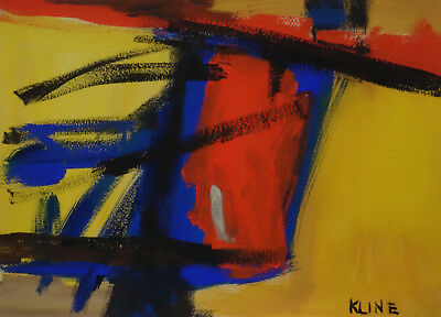 Fine art - Perfect Expressionist Unique Painting, signed & stamped, Rare find