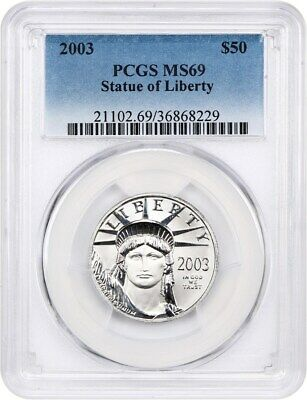 2003 Platinum Eagle PCGS MS69 - Statue Liberty 1/2 oz