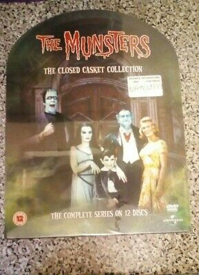 The Munsters Closed Casket Collection 12 Disc DVD Box Set Brand New & Sealed