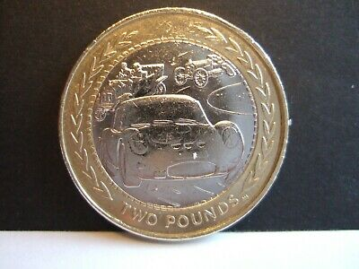 Superb RARE 1998 ISLE OF MAN CAR RALLY £2 TWO POUND COIN in Coin Capsule!
