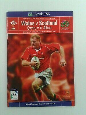 Rugby Union Programme: Wales v Scotland 2002 Six Nations