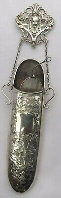 FINE VICTORIAN ENGLISH SILVER CHATELAINE SPECTACLE CASE  c.1900