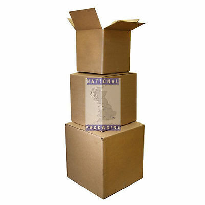 """Small Large Cardboard Boxes Cube Square Single Wall - 3"""" 4"""" 5"""" 6"""" 8"""" 9"""" Inch"""