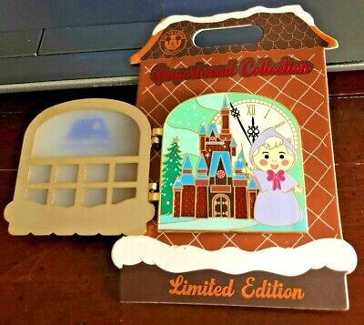 2019 Disney Contemporary Resort Christmas Gingerbread House Pin Fairy Godmother