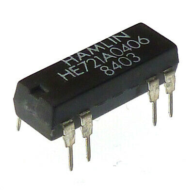 HAMLIN 5V DC HE721A0406 Dual in Line PCB Relay