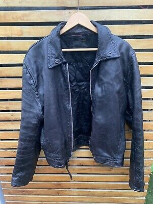 Vintage 1940s leather motorcycle jacket A2 Army