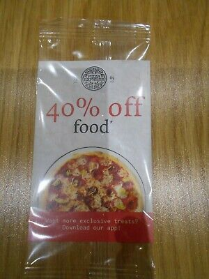 Pizza Express 40% off discount voucher (food only) Valid Mon-Thurs & Sun