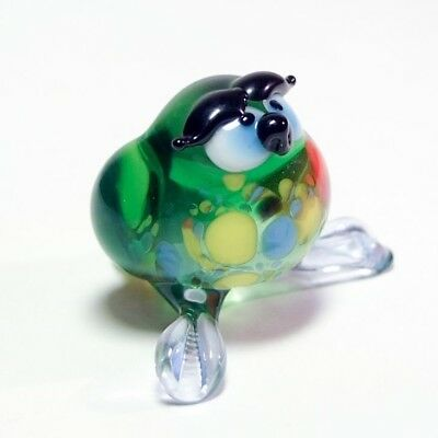 Hand Blown Glass Lamp Glass Murano Art Owl Figurine