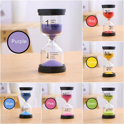 Minutes Home Decoration 1/3/5/10/30 Min Sand Clock Hourglass Timer Glass