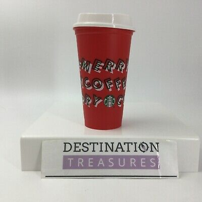 Starbucks Christmas 2019 Reusable Opening Day Gift Merry Coffee Red Cup 16 oz