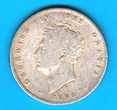 1826 SILVER SHILLING from GREAT BRITAIN in VG+  condition