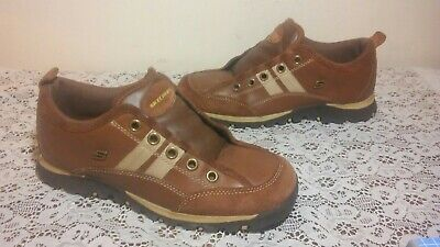 SKECHERS USA Women's Brown Beige Suede Leather Lace Up Sneakers 46077 Size 7.5