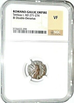 Roman Ruler Roman Tetricus I Coin,NGC Certified Very Fine