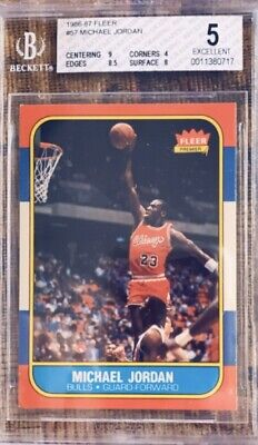 1986-1987 Fleer Michael Jordan Chicago Bulls #57 Basketball Card
