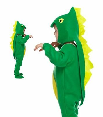 LIBRO VERDE Per Bambino Dinosauro giorno Halloween Fancy Dress Up Costume Outfit 4-12 anni