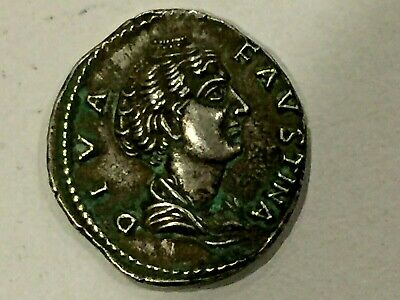 Great Antique Roman Or Greek Silver Coin Diva Favstina