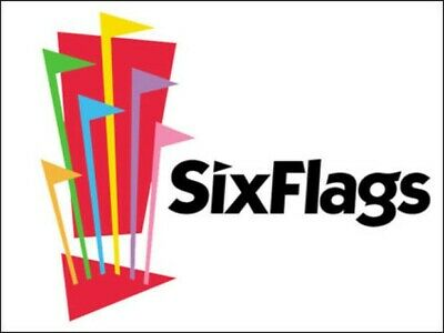 Set of 4 Six Flags Tickets good for Multiple Park Locations