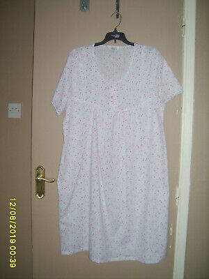 marlon 12-14 pink white floral short sleeved nightdress