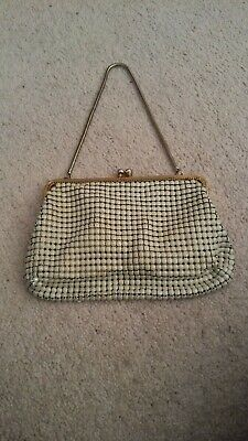 Glomesh Vintage 1960s White Arm Bag -Made In NSW, Australia With Original Tag
