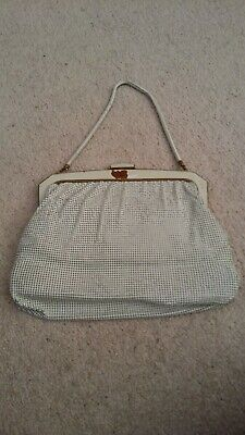 Oroton Vintage 1960s White Arm-Bag-Made in W Germany with Original Fixed Tag