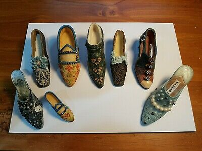 Miniature Collectable Ceramic Shoe and Bag Collection - Bulk Lot x 8 Fashion