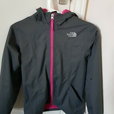Girls Large North Face Grey & Pink Dry Vent Jacket With Fleece 3 in 1