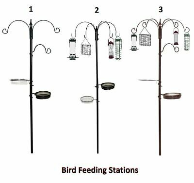 Bird Feeding Station With Feeders Premium Deluxe Traditional Wild Feed Birds