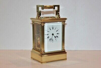 Antique Brass Carriage Clock  with Repeater - EXCELLENT!